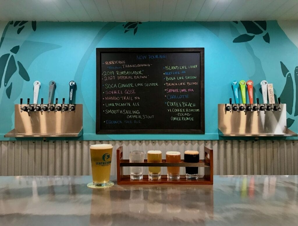 Selection of draft beers